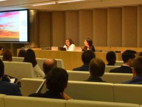 Marina Serrano y Ana Cremades en el evento sobre el impacto en Renovables de la CNMC